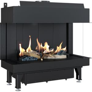Gas fireplace LEO 70 left / right for natural gas