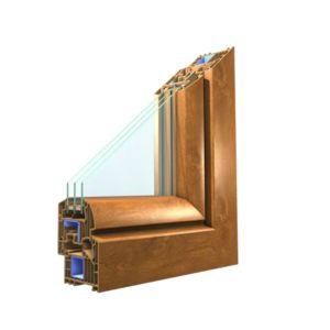 Okno Winergetic Premium dwukwaterowe z ruchomym słupkiem R+RU