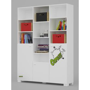Bookcase YO 55 high COMICS WHITE/DARK