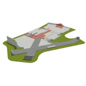 Skatepark 590 m2
