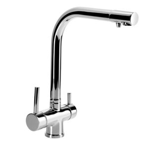 Kitchen mixer with water filter connection