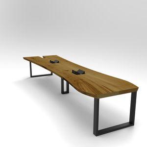 Stół konferencyjny dębowy Y, lite drewno