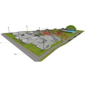 Skatepark 1700 m2