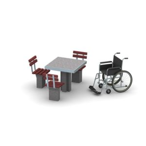 Wheelchair Accessible Concrete Game Table