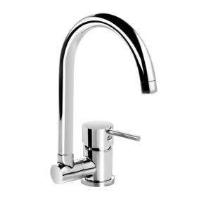 Standing sink mixer with folding U shaped spout