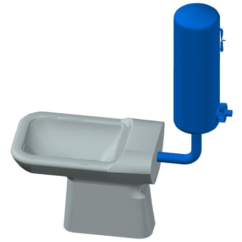 The hydropneumatic flushing system