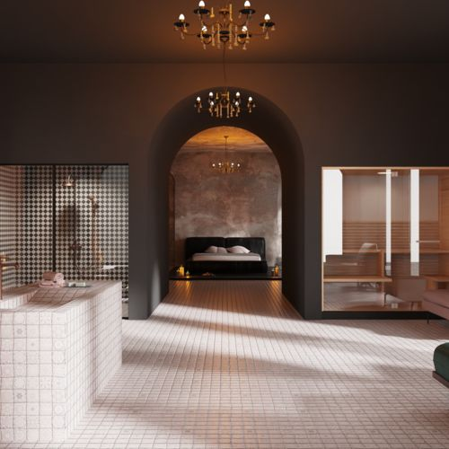 Hotel suite with bathroom lounge