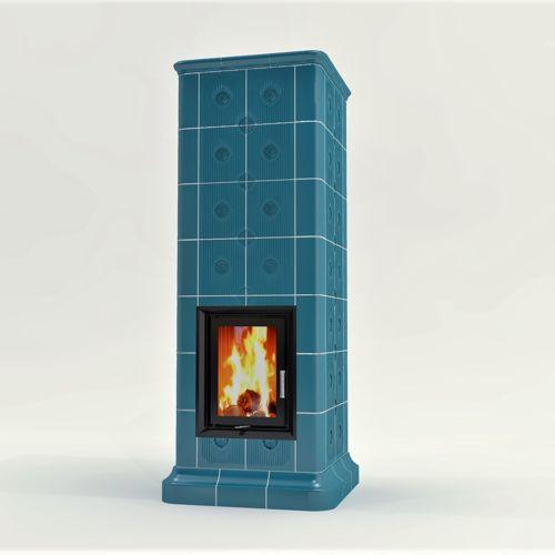 Josef Konečný - realization of tiled stove
