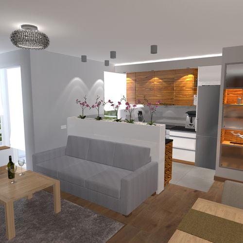 Projekt mieszkania na Ursynowie