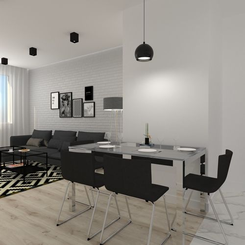 Otwarte dwupokojowe mieszkanie w Katowicach