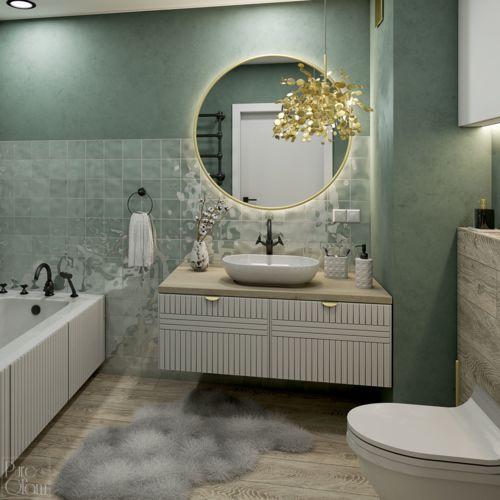 Projekt łazienki o powierzchni 5,21 mkw
