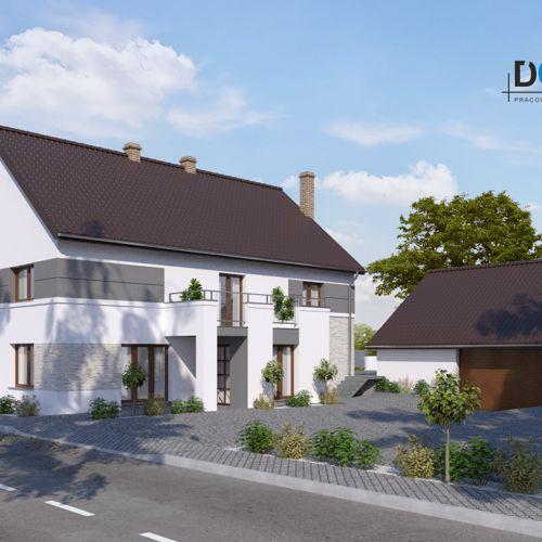 Projekt elewacji domu jednorodzinnego w miejscowości Polska Cerekiew