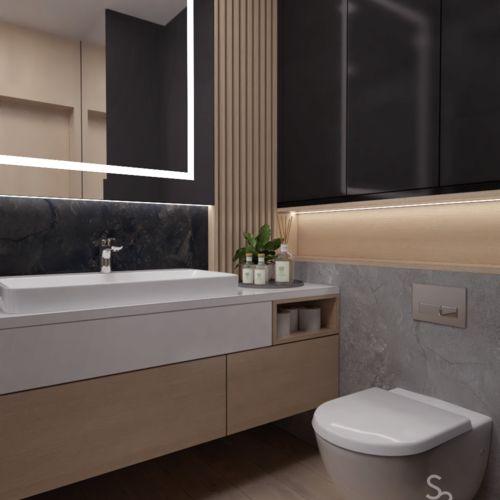Nowoczesna łazienka w mieszkaniu prywatnym w Gliwicach