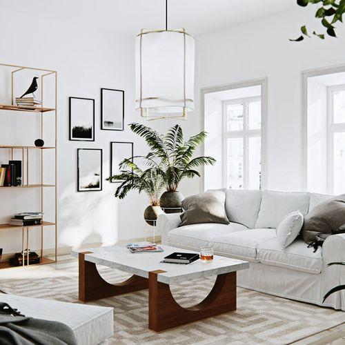 Wizualizacje mieszkania w stylu skandynawskim. Przyjrzyj się detalom.