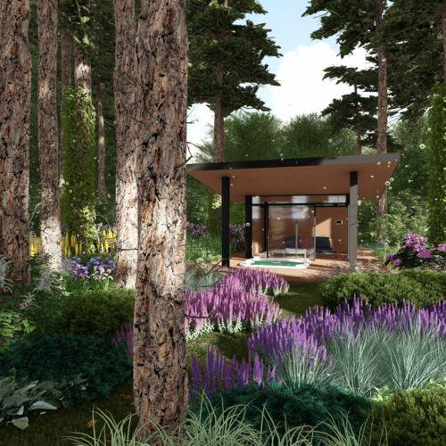 Ogród leśny przy rezydencji- faza I koncepcji