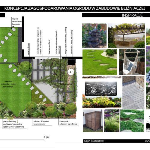 Projekt zagospodarowania ogrodu przy zabudowie bliźniaczej