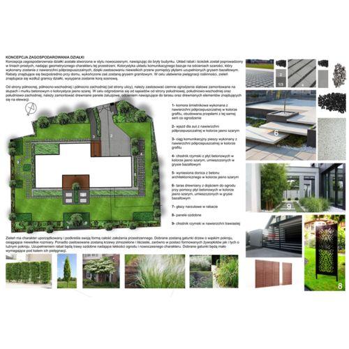 Projekt zagodpodarowania ogrodu przydomowego w Radomierzycach