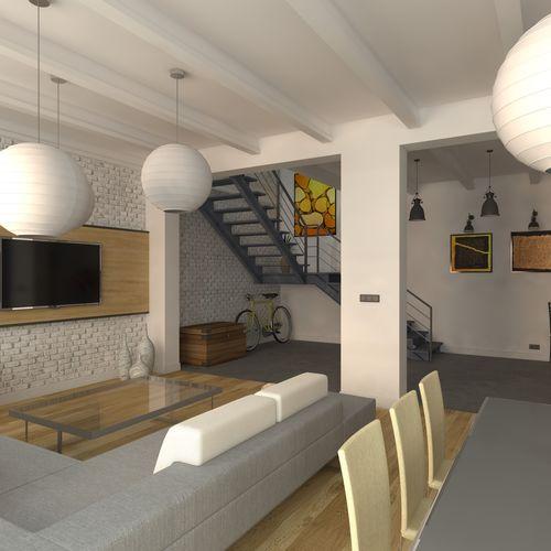 LOFT - Salon z kuchnią