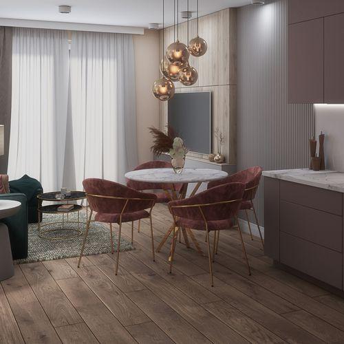 Mieszkanie 35 metrów kwadratowych - salon z aneksem kuchennym