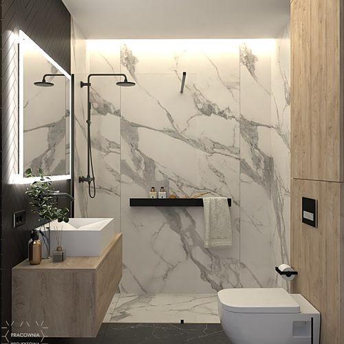 Męska łazienka w trzech kolorach