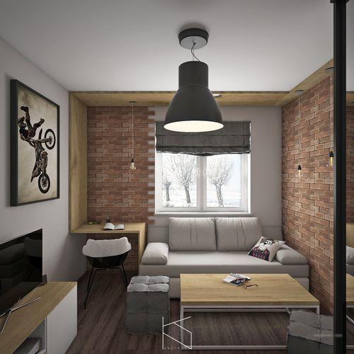 Pokój w stylu industrialnym / Radwanice.