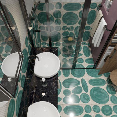 Kolorowa łazienka w bloku