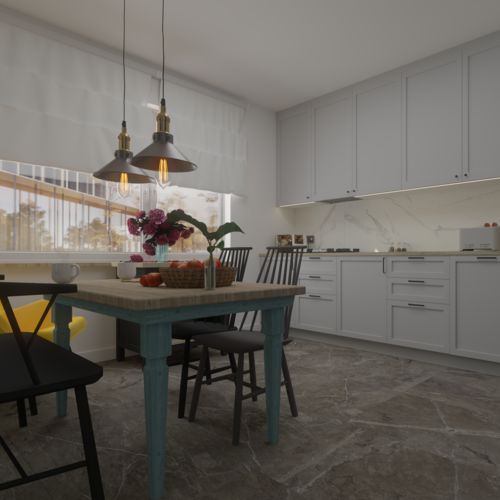 Projekt kuchni w domku jednorodzinnym