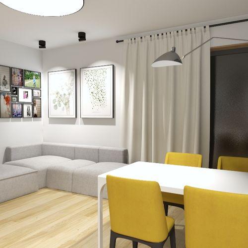 Jasne i kolorowe mieszkanie dla czteroosobowej rodziny.