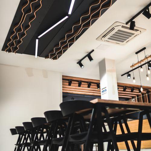 Dekor sufitowy - piekarnia testowa Pro Ascobloc - Strzelecka Design