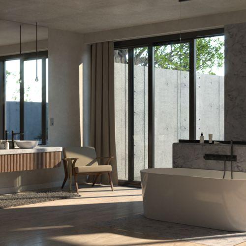 Salon kąpielowy z nutą ekstrawagancji | Omnires