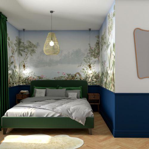 Sypialnia i łazienka