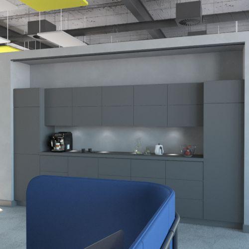 Projekt wnętrza biurowego - kompleksowo i kreatywnie | Duravit, Forbo, Bejot, Blum