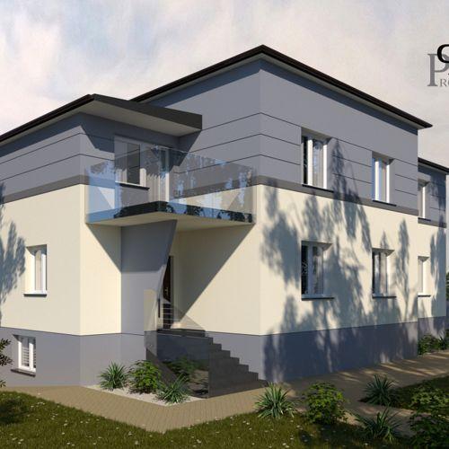 Projekt zmiany elewacji domu jednorodzinnego w Łaziskach Górnych