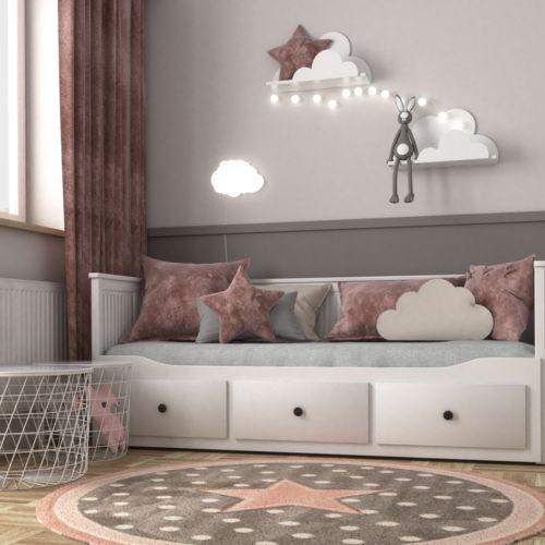 Różowy pokój dla małej dziewczynki