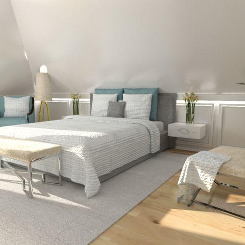 Wizualizacja projekt sypialni