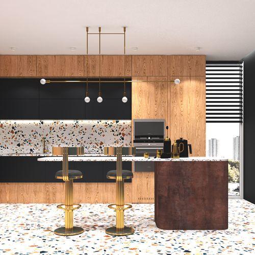 Projekt kuchni z lastryko - dwie wersje