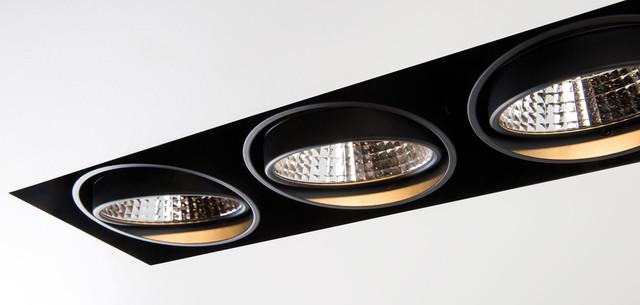 Recessed Lamps, Mini multiple trimless, Modular Lighting Instruments