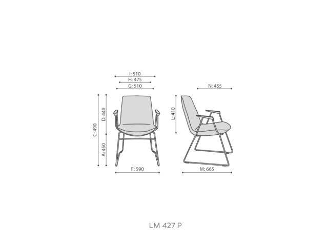 Armchairs, LUMI LM 427/ LM 427 P, Bejot
