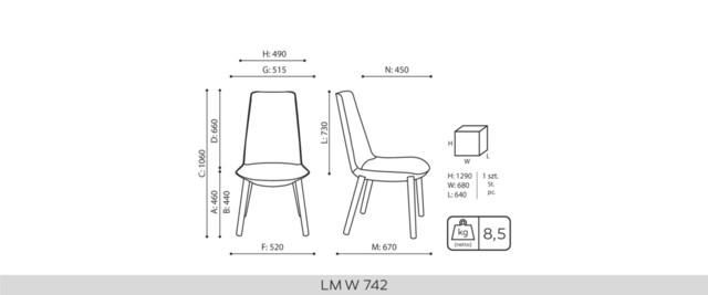 Armchairs, LUMI LM W 742 / W 741, Bejot