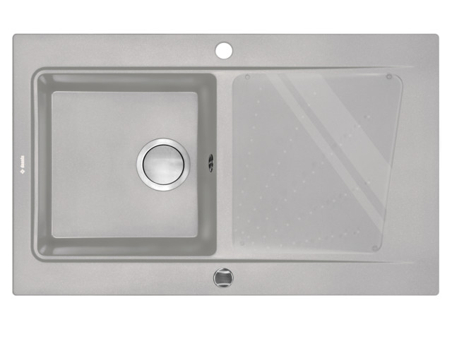 Square Sinks, 1-bowl sink with draining board Modern, Deante