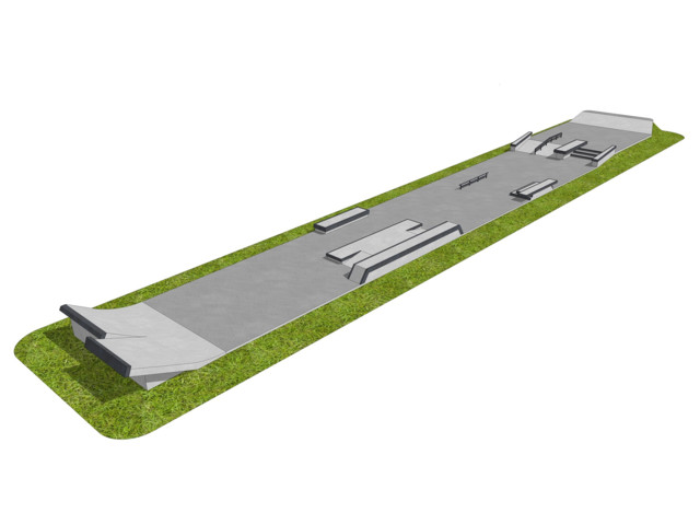 Skatepark, Skatepark 300 m2, Techramps Concrete