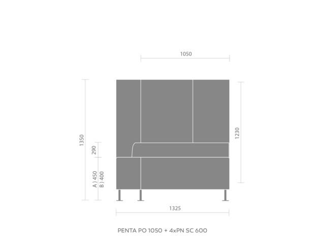 Sofas, PENTA PN 1050, Bejot
