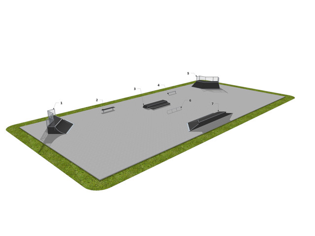 Skatepark, Skatepark 101118, Grupa Techramps