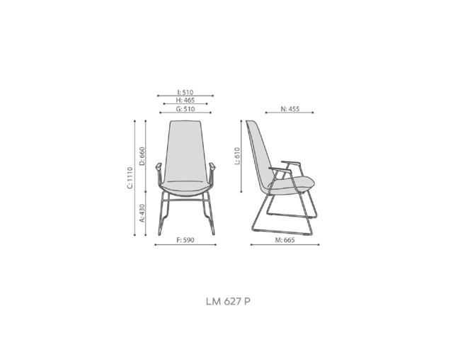 Armchairs, LUMI LM 627/ LM 627 P, Bejot