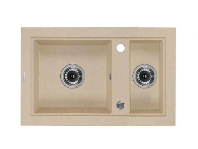 Square Sinks, 1,5-bowl sink without draining board Country, Deante