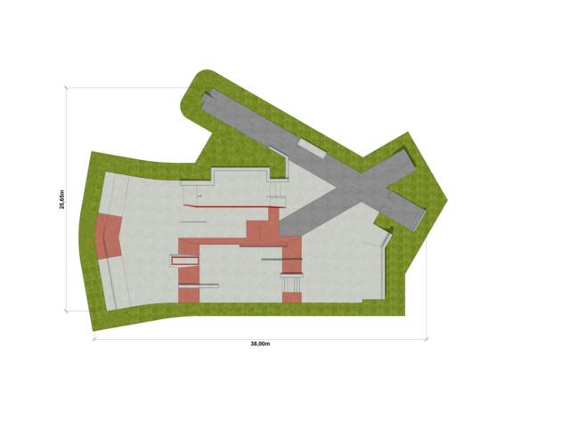 Skatepark, Skatepark 590 m2, Techramps Concrete