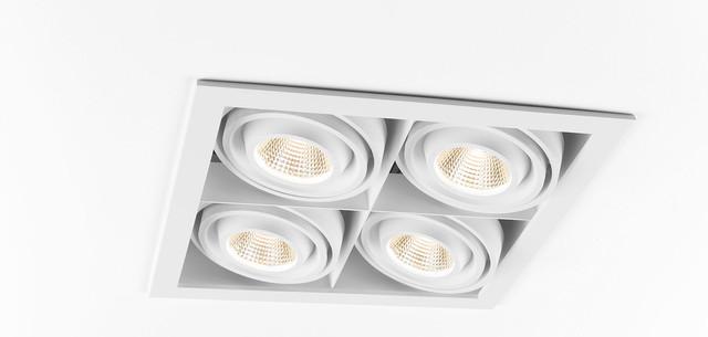 Recessed Lamps, Mini multiple, Modular Lighting Instruments