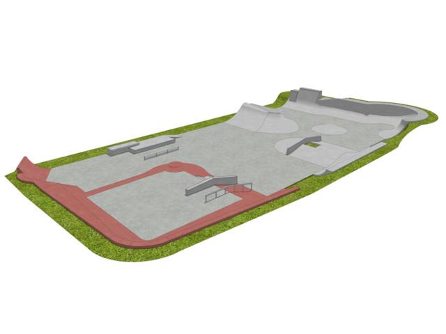 Skatepark, Skatepark 760 m2, Techramps Concrete