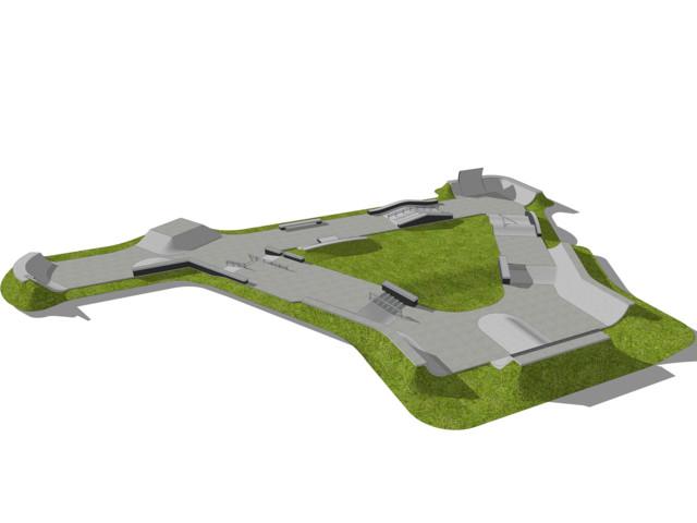 Skatepark, Skatepark 860 m2, Techramps Concrete