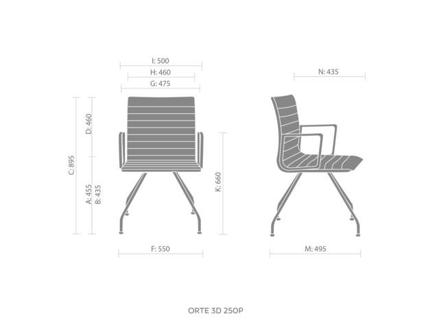 Chairs, ORTE OT 3DH 250-250P, Bejot